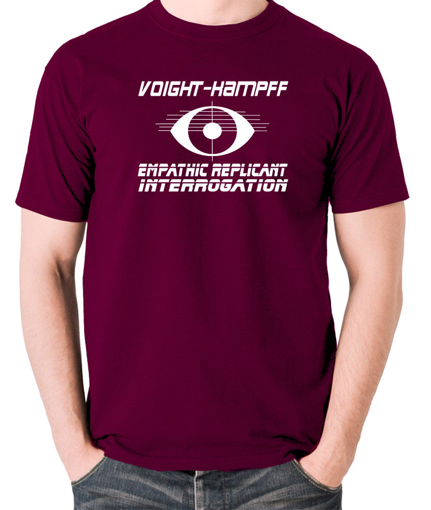 Blade Runner - Voight Kampff, Empathic Replicant Interrogation - Men's T Shirt - burgundy