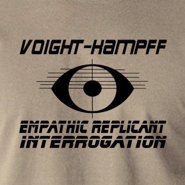 Blade Runner - Voight Kampff, Empathic Replicant Interrogation - Men's T Shirt