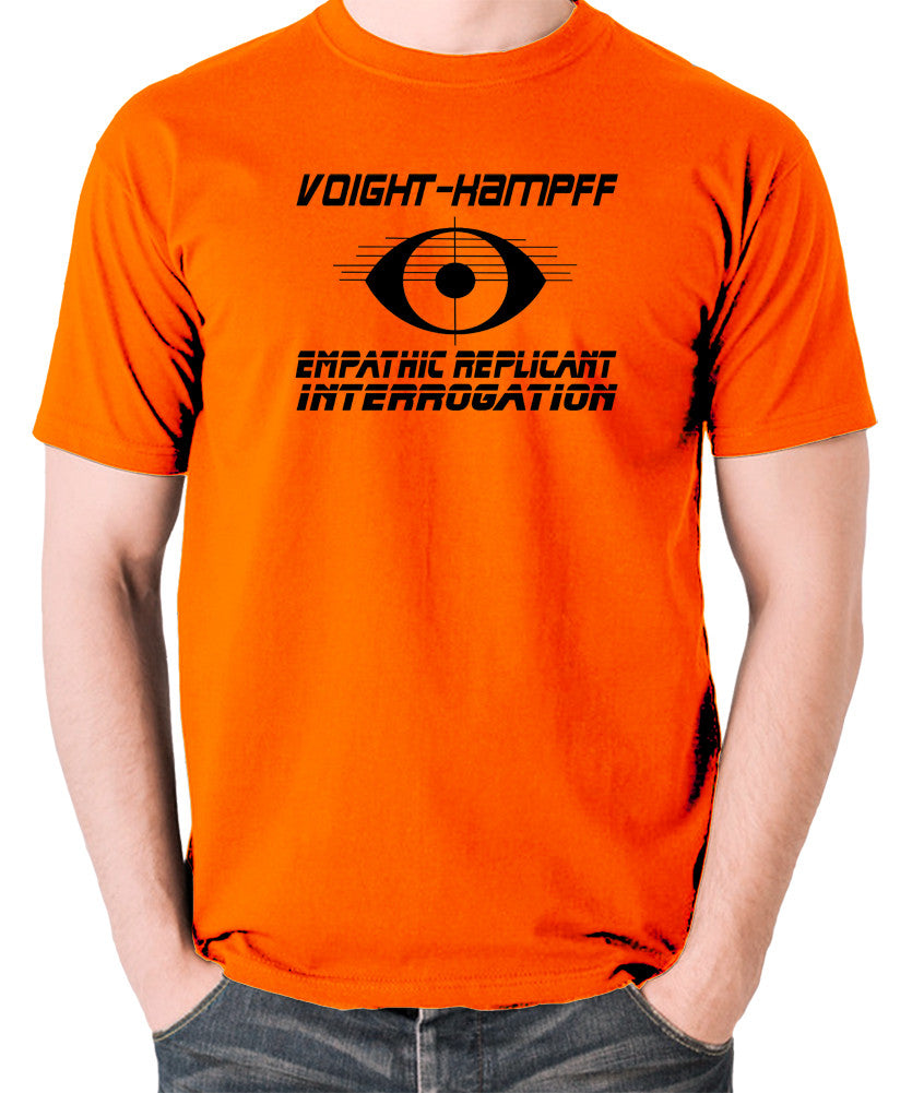 Blade Runner - Voight Kampff, Empathic Replicant Interrogation - Men's T Shirt - orange