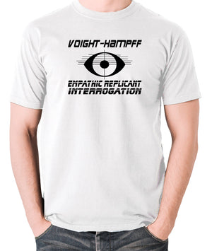 Blade Runner - Voight Kampff, Empathic Replicant Interrogation - Men's T Shirt - white