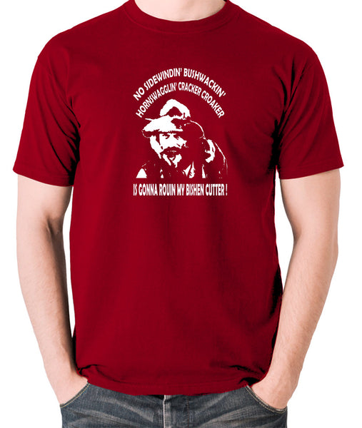 Blazing Saddles - Gabby Johnson, Bishen Cutter - Men's T Shirt - brick red