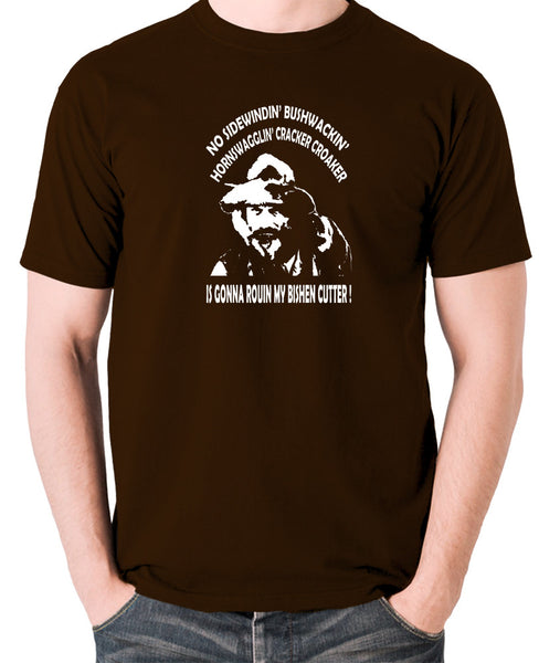 Blazing Saddles - Gabby Johnson, Bishen Cutter - Men's T Shirt - chocolate