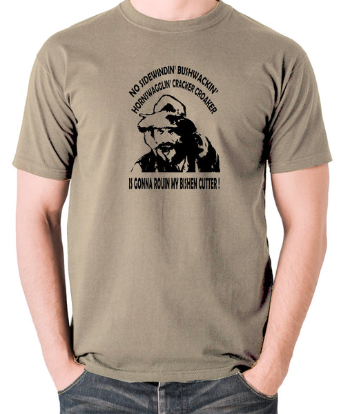 Blazing Saddles - Gabby Johnson, Bishen Cutter - Men's T Shirt - khaki