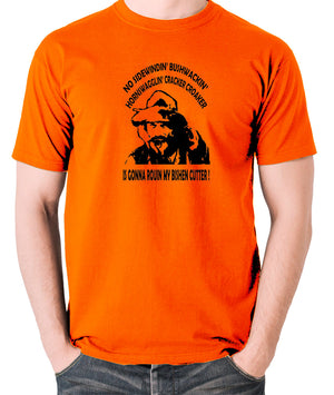 Blazing Saddles - Gabby Johnson, Bishen Cutter - Men's T Shirt - orange