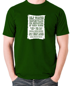 Blazing Saddles - Help Wanted Poster - Men's T Shirt - green