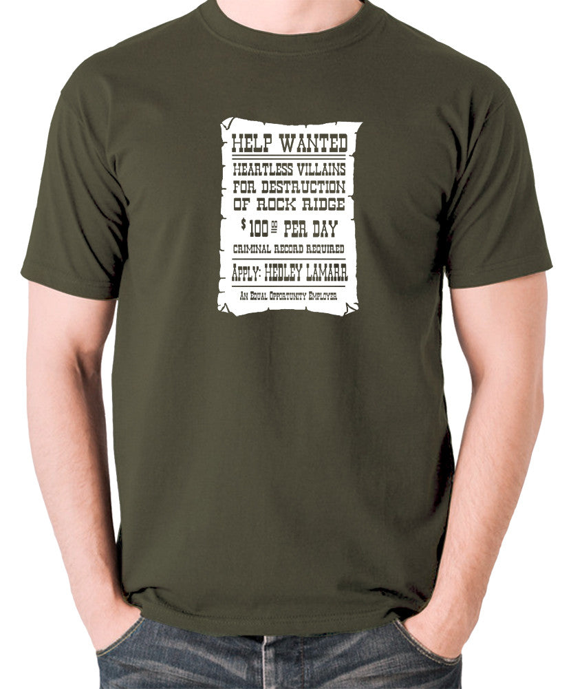 Blazing Saddles - Help Wanted Poster - Men's T Shirt - olive