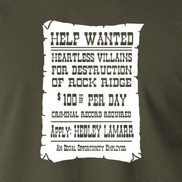 Blazing Saddles T Shirt Help Wanted Revolution Ape