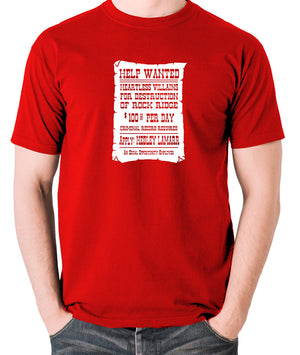 Blazing Saddles - Help Wanted Poster - Men's T Shirt - red