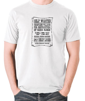 Blazing Saddles - Help Wanted Poster - Men's T Shirt - white
