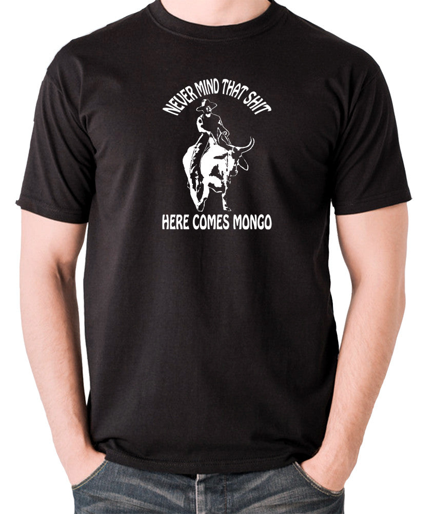 Blazing Saddles - Here Comes Mongo - Men's T Shirt - black
