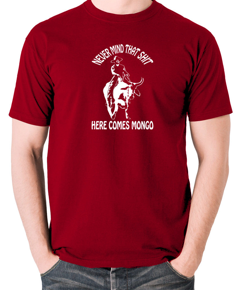 Blazing Saddles - Here Comes Mongo - Men's T Shirt - brick red