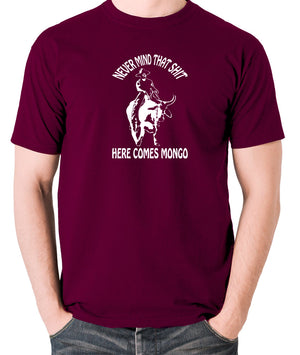 Blazing Saddles - Here Comes Mongo - Men's T Shirt - burgundy