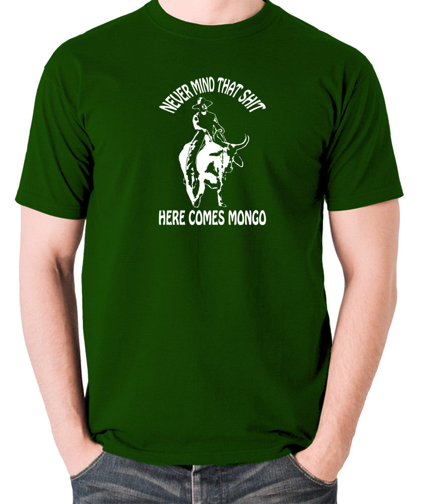 Blazing Saddles - Here Comes Mongo - Men's T Shirt - green