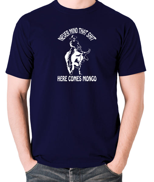 Blazing Saddles - Here Comes Mongo - Men's T Shirt - navy