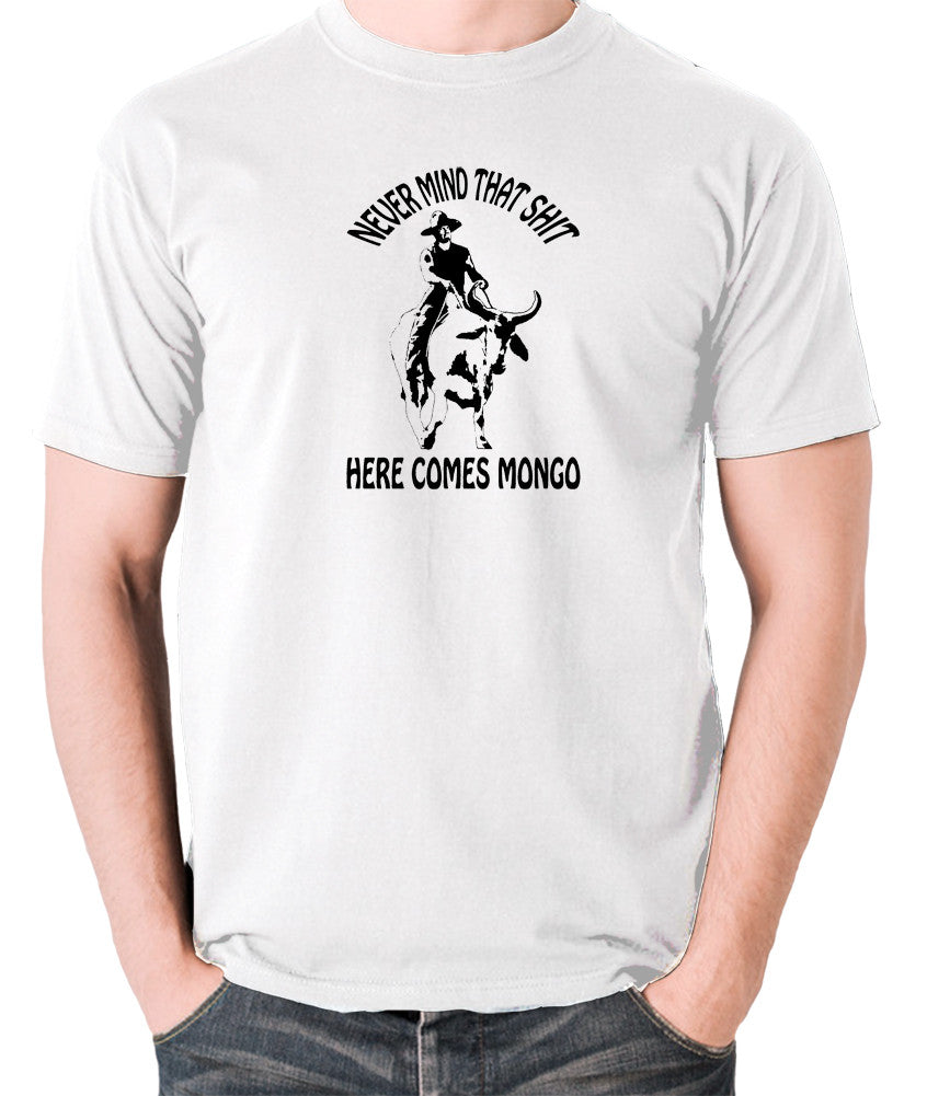 Blazing Saddles - Here Comes Mongo - Men's T Shirt - white