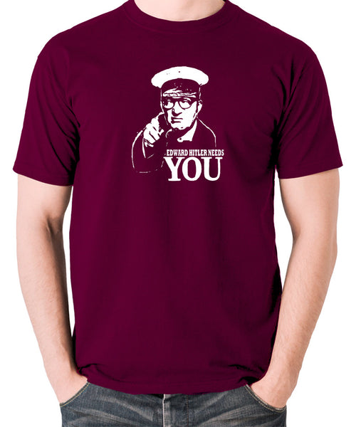Bottom Edward Hitler Needs You T Shirt burgundy