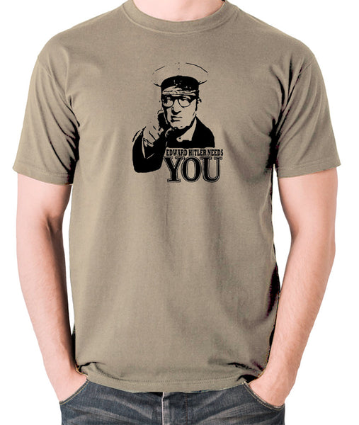 Bottom Edward Hitler Needs You T Shirt khaki