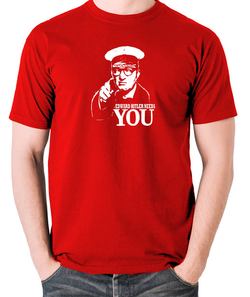 Bottom Edward Hitler Needs You T Shirt red
