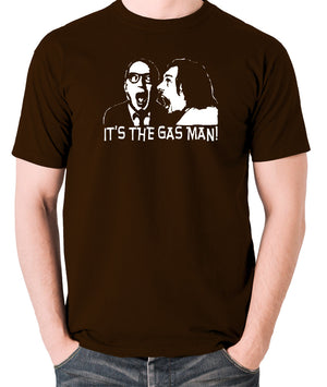 Bottom It's The Gas Man T Shirt chocolate