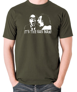 Bottom It's The Gas Man T Shirt olive