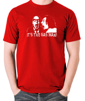 Bottom It's The Gas Man T Shirt red