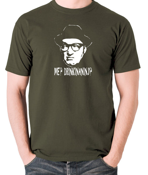 Bottom Me? Drinkinaninj? T Shirt olive
