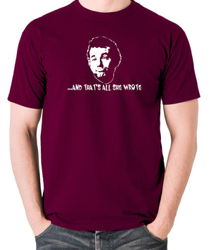 Caddyshack - Carl Spackler, And That's All She Wrote - Men's T Shirt - burgundy
