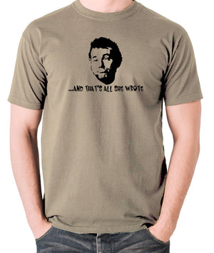 Caddyshack - Carl Spackler, And That's All She Wrote - Men's T Shirt - khaki