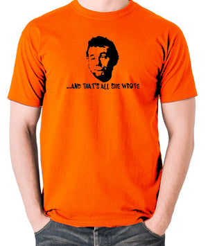 Caddyshack - Carl Spackler, And That's All She Wrote - Men's T Shirt - orange