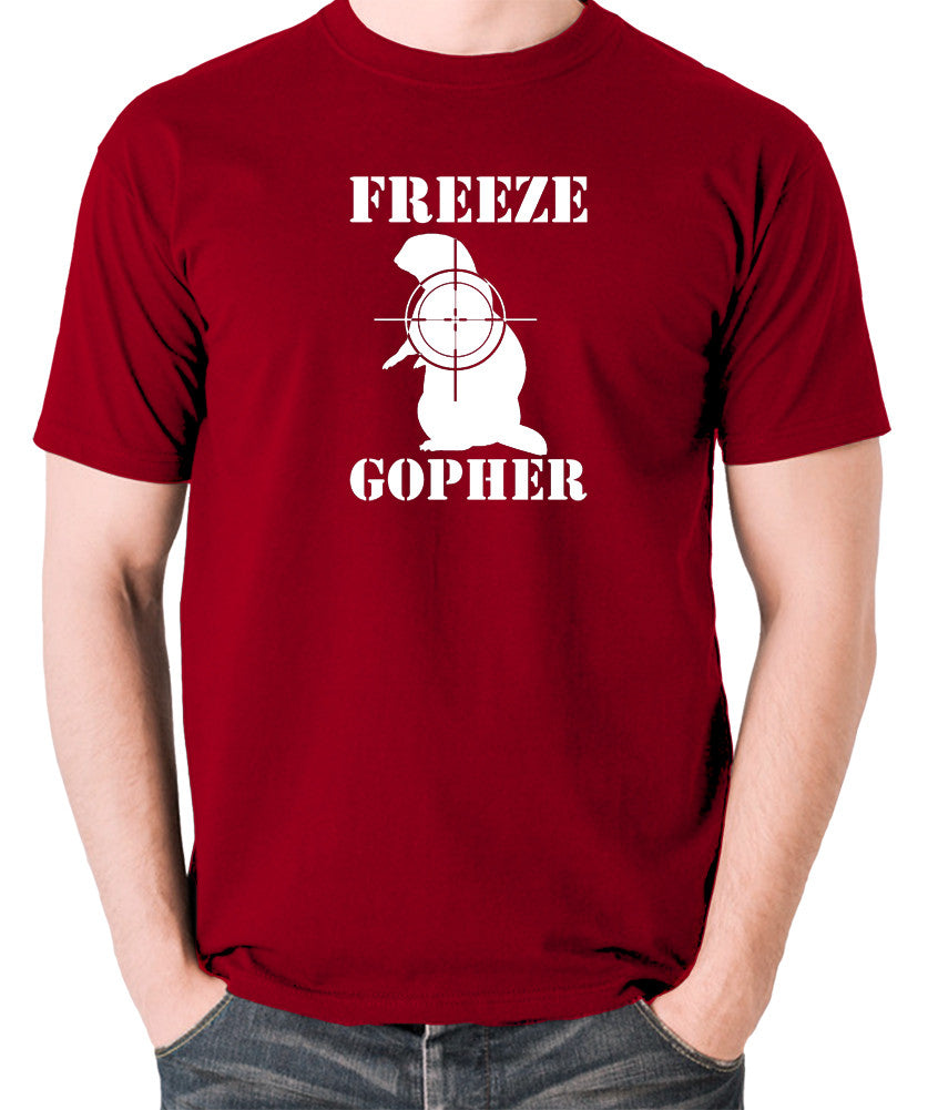 Caddyshack - Freeze Gopher - Men's T Shirt - brick red