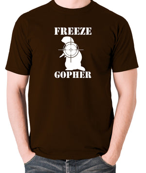 Caddyshack - Freeze Gopher - Men's T Shirt - chocolate