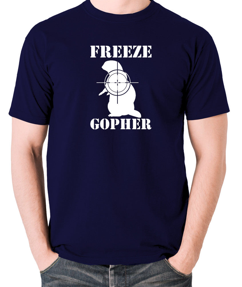 Caddyshack - Freeze Gopher - Men's T Shirt - navy