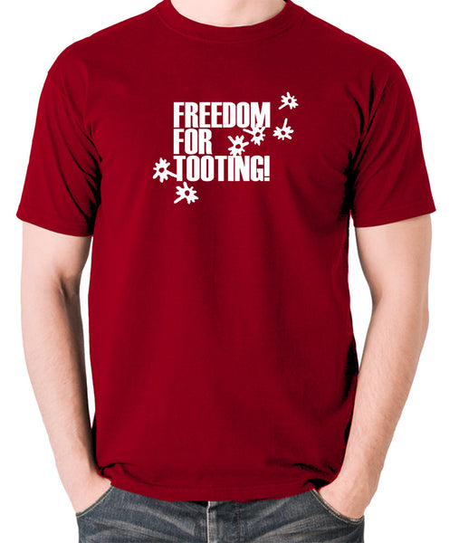 Citizen Smith, Robert Lindsay - Freedom For Tooting - Men's T Shirt - brick red