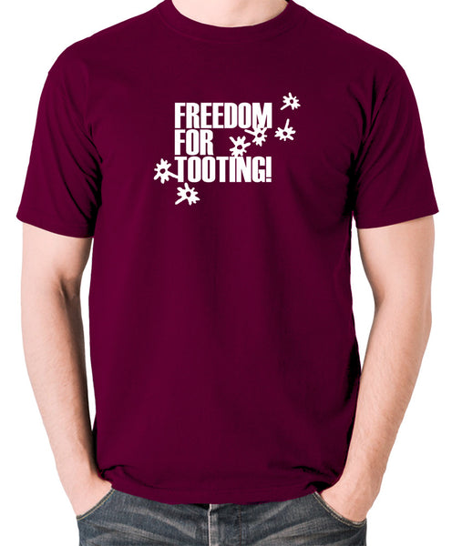 Citizen Smith, Robert Lindsay - Freedom For Tooting - Men's T Shirt - burgundy