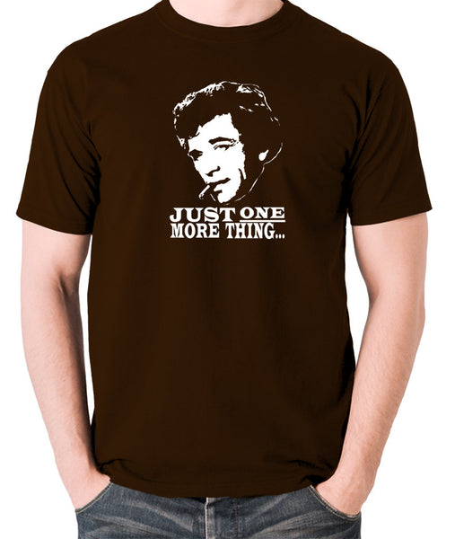Columbo - Just One More Thing - Men's T Shirt - chocolate