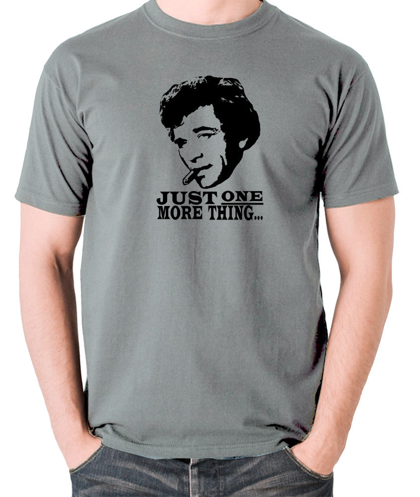 Columbo - Just One More Thing - Men's T Shirt - grey