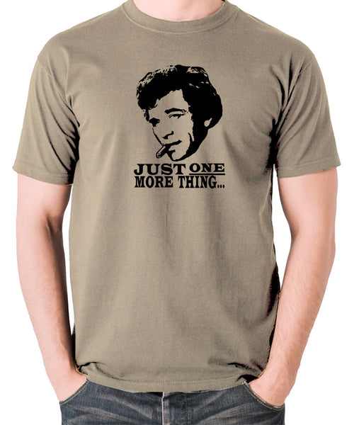 Columbo - Just One More Thing - Men's T Shirt - khaki