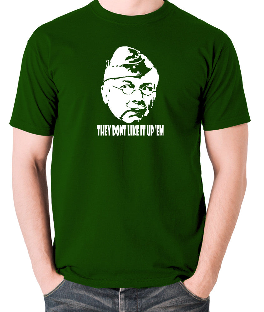 Dad's Army - Lance Corporal Jones, They Don't Like It Up 'Em - Men's T Shirt - green