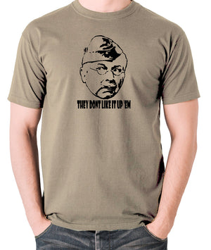 Dad's Army - Lance Corporal Jones, They Don't Like It Up 'Em - Men's T Shirt - khaki