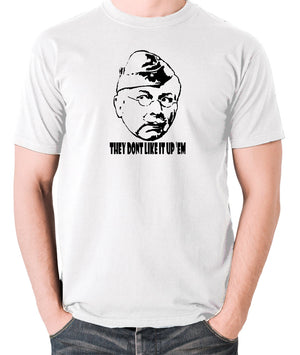 Dad's Army - Lance Corporal Jones, They Don't Like It Up 'Em - Men's T Shirt - white