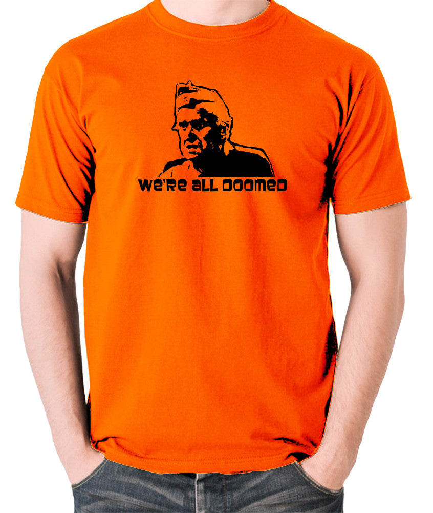 We/'re Doomed Doomed T-Shirt Funny Dad/'s Army Private Fraser