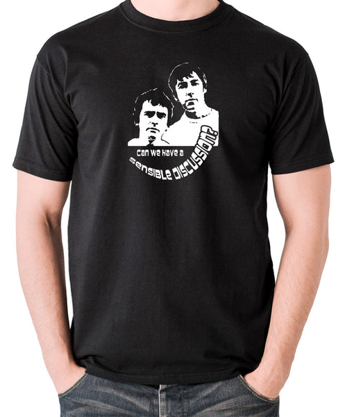 Derek And Clive - Peter Cook and Dudley Moore - Can We Have a Sensible Discussion? - Men's T Shirt - black