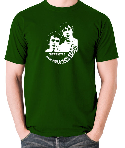 Derek And Clive - Peter Cook and Dudley Moore - Can We Have a Sensible Discussion? - Men's T Shirt - green