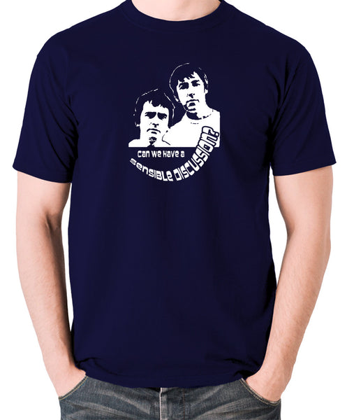 Derek And Clive - Peter Cook and Dudley Moore - Can We Have a Sensible Discussion? - Men's T Shirt - navy