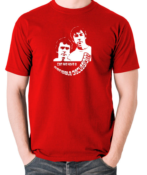 Derek And Clive - Peter Cook and Dudley Moore - Can We Have a Sensible Discussion? - Men's T Shirt - red