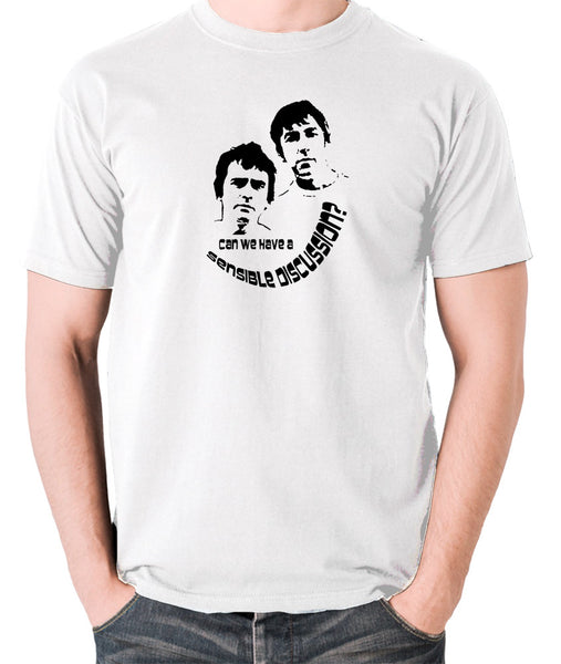 Derek And Clive - Peter Cook and Dudley Moore - Can We Have a Sensible Discussion? - Men's T Shirt - white