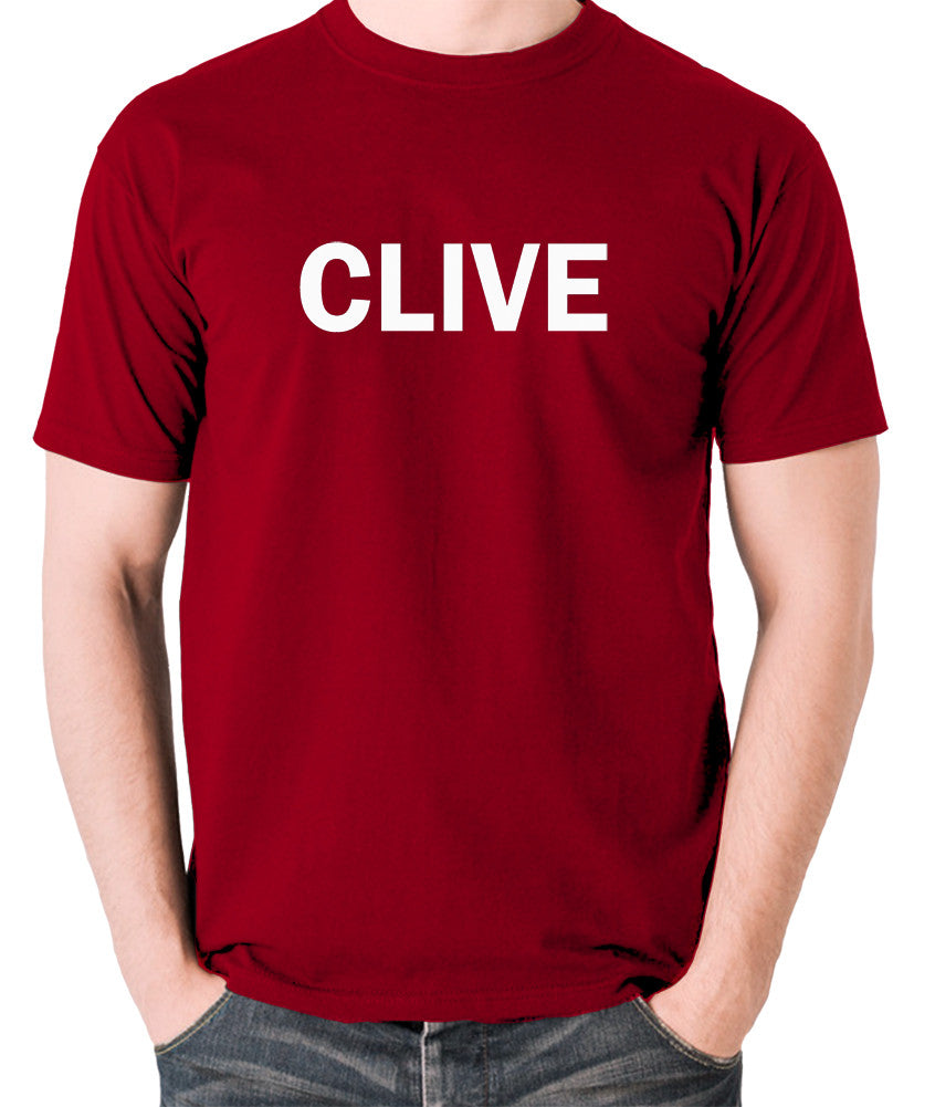 Derek And Clive - Peter Cook and Dudley Moore - Clive - Men's T Shirt - brick red