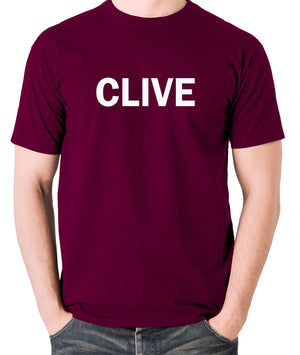 Derek And Clive - Peter Cook and Dudley Moore - Clive - Men's T Shirt - burgundy
