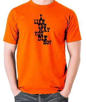 Django Unchained - I Like The Way You Die Boy - Men's T Shirt - orange
