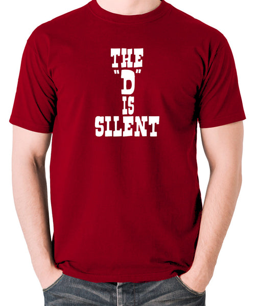 Django Unchained - The 'D' is Silent - Men's T Shirt - brick red